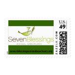 sevenblessingsanimalsanctuary.org logo postage stamp