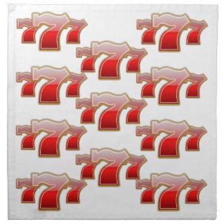Sevens afortunado - bote de la máquina tragaperras servilletas imprimidas