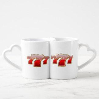 Sevens afortunado - bote de la máquina tragaperras set de tazas de café