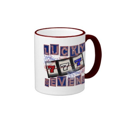 Sevens afortunado taza a dos colores