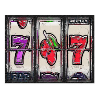Sevens and Cherries Slot Reels Postcard