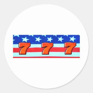 Sevens RWB  Classic Round Sticker