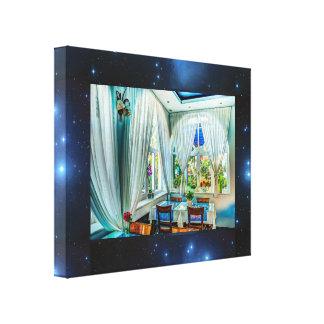 Sevensisters Pleidians Frame Blue Dinner canvas