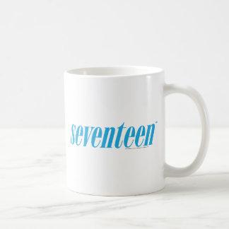 Seventeen Logo-Aqua Classic White Coffee Mug