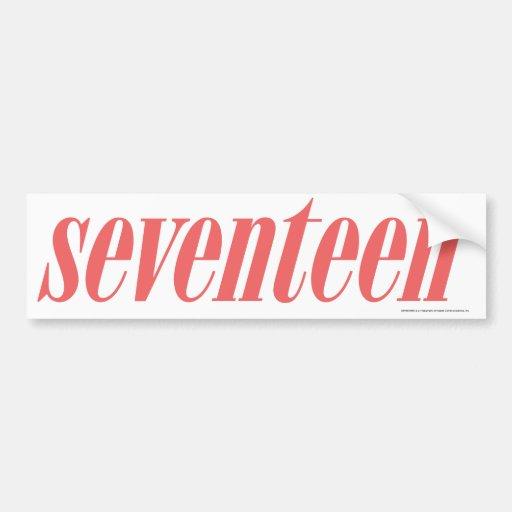 Seventeen Logo-LtPink Car Bumper Sticker
