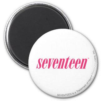 Seventeen Logo-Magenta 2 Inch Round Magnet