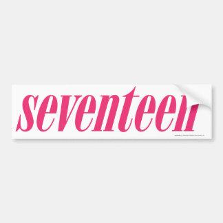Seventeen Logo-Magenta Bumper Sticker