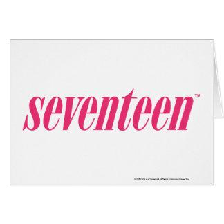 Seventeen Logo-Magenta Greeting Card