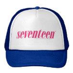Seventeen Logo-Magenta Trucker Hat