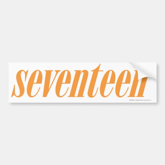 Seventeen Logo-Orange Bumper Sticker
