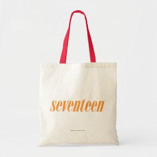 Seventeen Logo-Orange Tote Bag