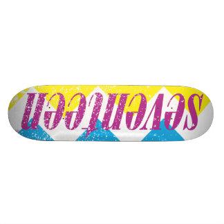 Seventeen Logo-Puprle Skateboard Decks