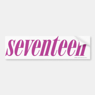 Seventeen  Logo-Purple Bumper Sticker