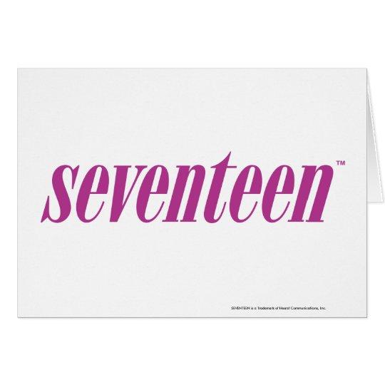 Seventeen  Logo-Purple Card
