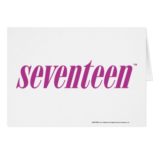 Seventeen  Logo-Purple Greeting Card