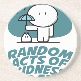 Seventeenth February - Random Acts Of Kindness Day Sandstone Coaster