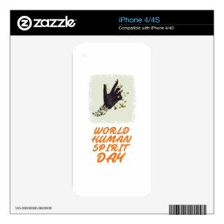 Seventeenth February - World Human Spirit Day iPhone 4 Skin