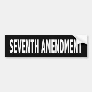 Seventh Amendment Bumper Sticker