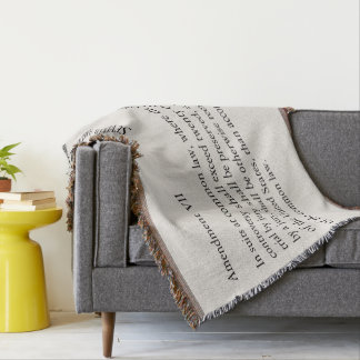 Seventh Amendment Constitution Bill of Rights Throw Blanket