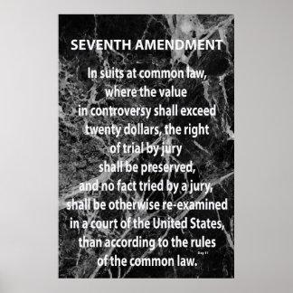 Seventh Amendment Poster