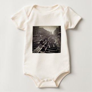 Seventh Avenue and 24-25th Streets Subway Baby Bodysuit
