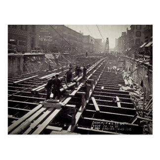 Seventh Avenue and 24-25th Streets Subway Postcard