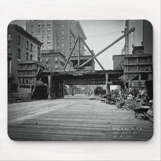 Seventh Avenue and 53rd Street New York City Photo Mouse Pad