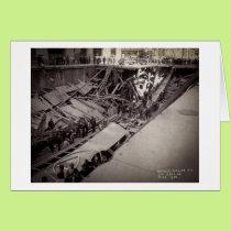Seventh Avenue Street Collapse New York City 1915 Card