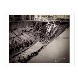 Seventh Avenue Street Collapse New York City 1915 Postcard