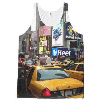 SEVENTH AVENUE TAXI NEW YORK CITY TRAVEL All-Over-Print TANK TOP