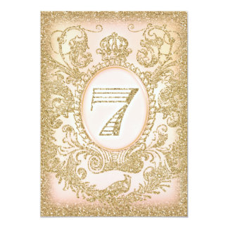 Seventh Birthday Once Upon a Time Princess 5x7 Paper Invitation Card