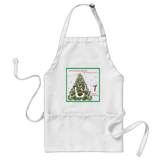 Seventh Day of Christmas Adult Apron
