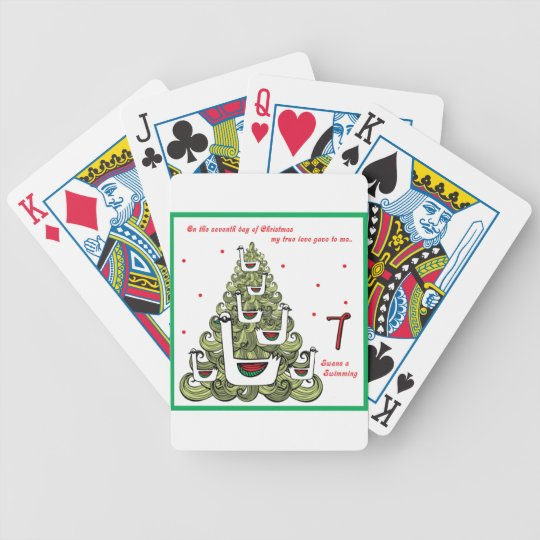 Seventh Day of Christmas Bicycle Playing Cards