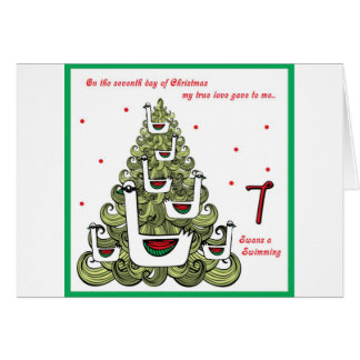 Seventh Day of Christmas Card