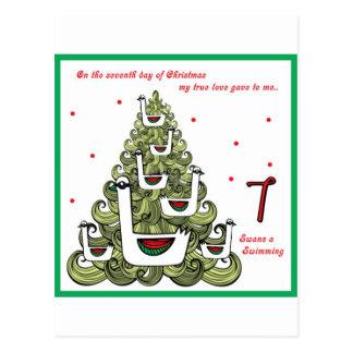 Seventh Day of Christmas Postcard