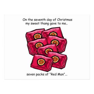 Seventh Day Redneck Christmas Postcard
