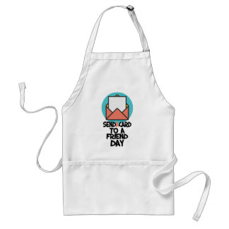 Seventh February - Send a Card to a Friend Day Adult Apron