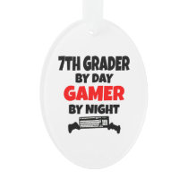 Seventh Grader by Day Gamer by Night Ornament