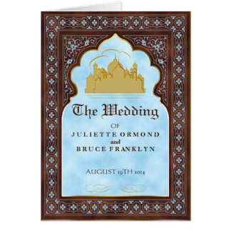 Seventh Heaven - Wedding Program Card