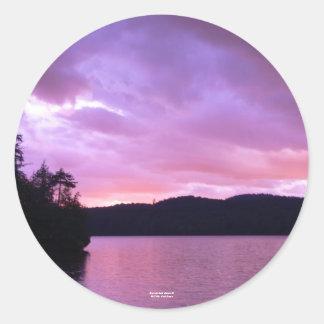 Seventh Lake Sunset II Classic Round Sticker