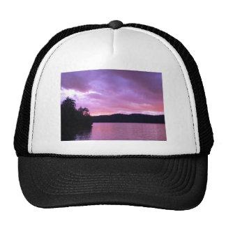 Seventh Lake Sunset II Hats