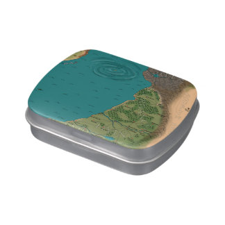 Seventh Night World Map Candy Tin