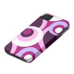 Seventies disco stylish circle design iPhone 4 Case-Mate case