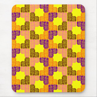 Seventies floral roses pattern design mouse pad
