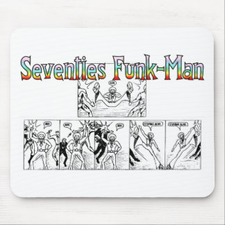 Seventies Funk-Man Mouse Pad