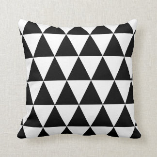 Seventies Funky Triangles Art Pattern Throw Pillow