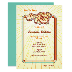 Seventies Night Invitation