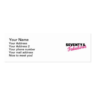 Seventy & fabulous birthday Double-Sided mini business cards (Pack of 20)