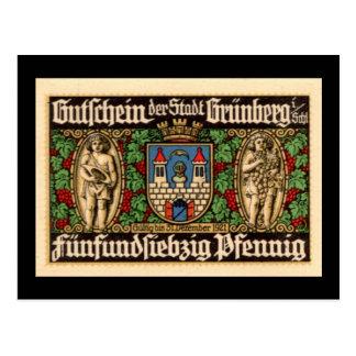 Seventy-five Pfennig 1921 German Note Postcard