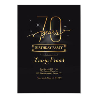 Seventy Years Young Invitation